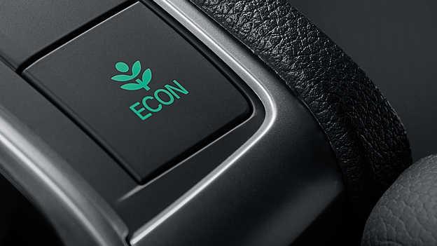 Primer plano del botón del modo de ahorro de consumo