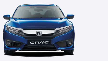 Vista frontal del Honda Civic Sedán.