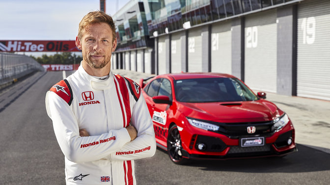 El Honda Civic Type R con Jenson Button