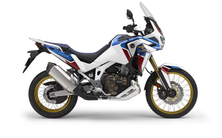 Honda Africa Twin Adventure Sports, vista del lateral derecho en estudio