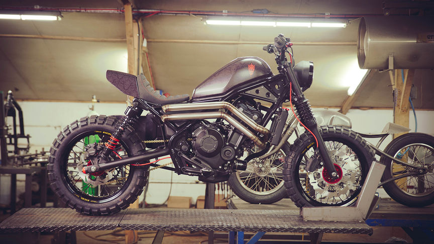 Honda CMX500 Rebel customizada por Russ Brown y Dan Gold.