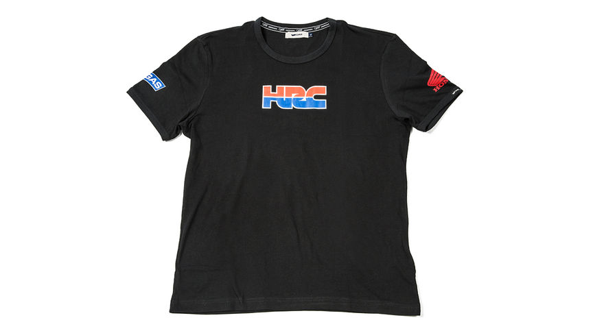 Camiseta en color negro con logo corporativo de Honda Racing.