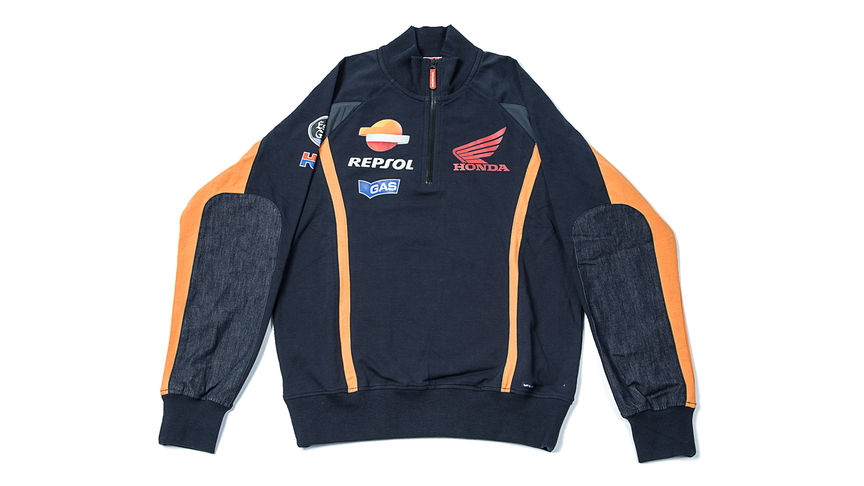 Chaqueta fina en color azul con logo corporativo de Honda Racing