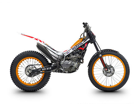 Montesa 4RT 260 Race Replica, lateral derecho.