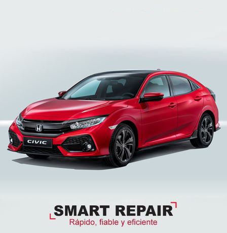 Servicio de mantenimiento Smart Repair Honda Civic rojo