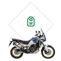 Vista lateral de una Africa Twin Sports Adventure tri-color