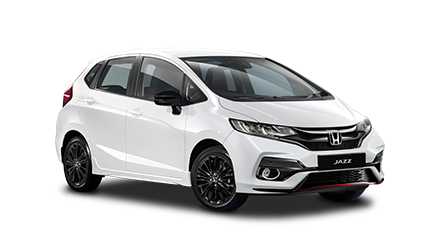 Honda Jazz Blanco vista frontal y lateral