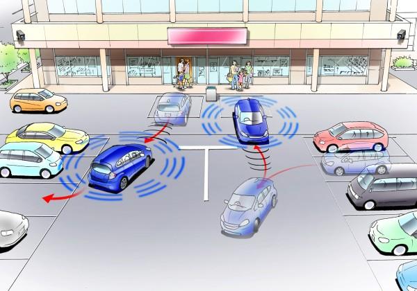 Reproducción gráfica del sistema de estacionamiento automático (automatic valet parking system)