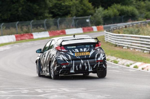 Pruebas del Civic Type R en Nurburgring