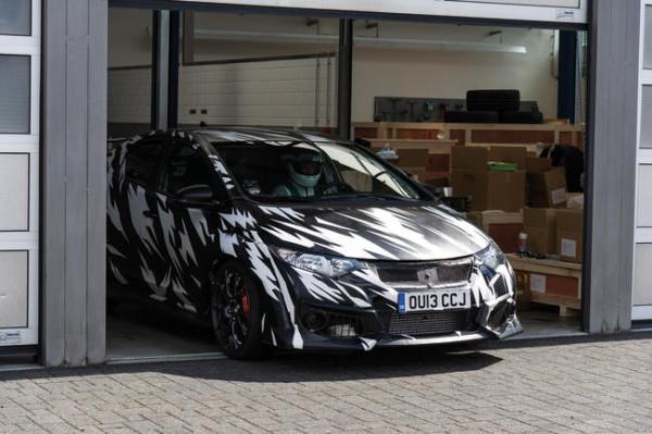 Pruebas del nuevo Civic Type R en Nürburgring
