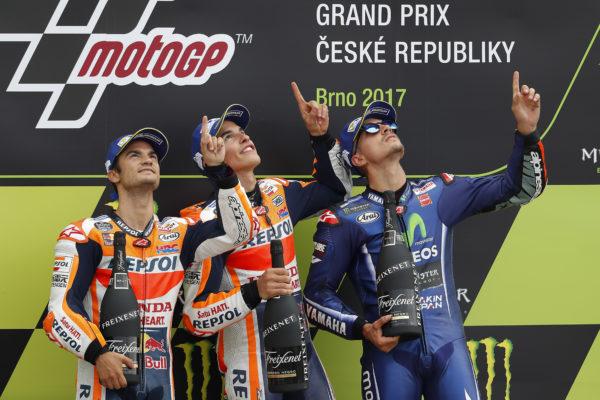 Honda, MotoGP, Gran Premio de la República Checa, Brno, Marc Márquez, Dani Pedrosa, HRC, Ángel Nieto
