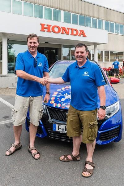 Equipo Honda: Fergal McGrath y Julian Warren