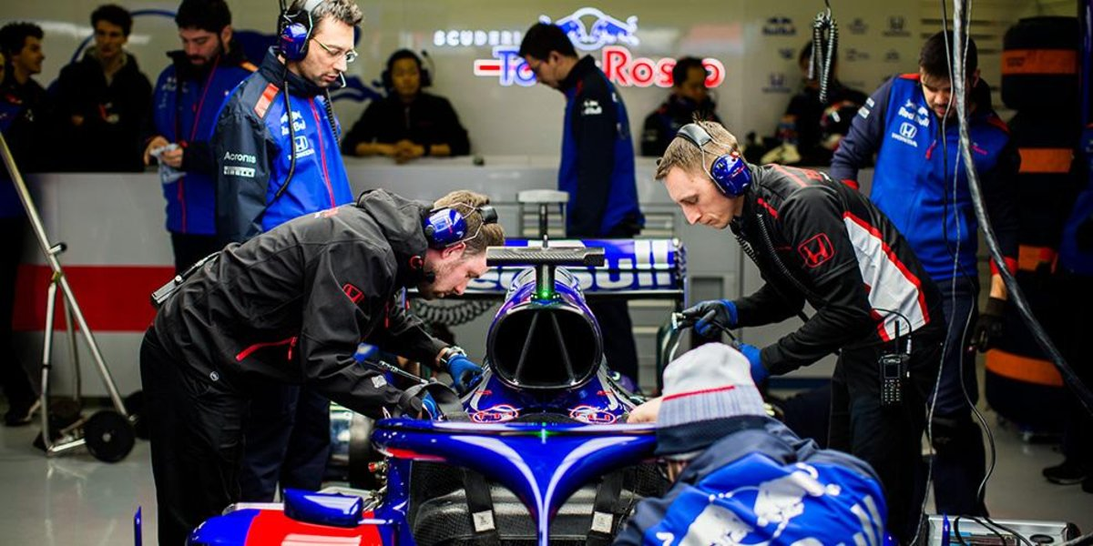 Fórmula 1 toro rosso honda barcelona test
