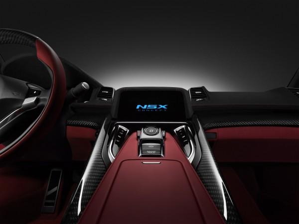 Imagen del interior del Honda NSX Concept