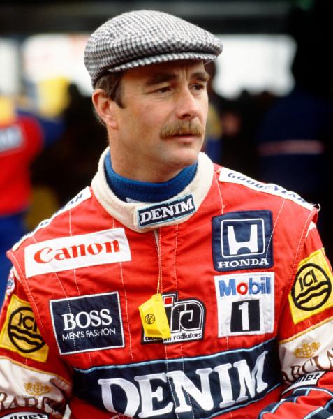 Nigel Mansell y su inconfundible bigote. A los mandos de Honda consiguió dos subcampeonatos