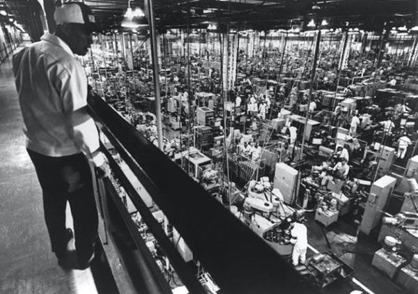 La cadena de producción en la fábrica de Suzuka