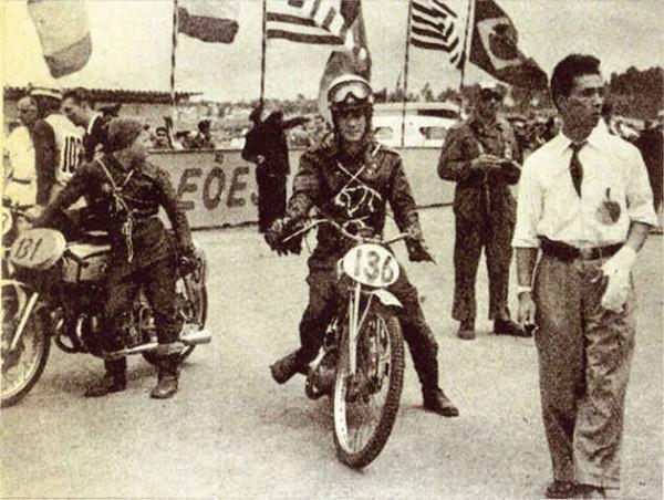 La primera participación de Honda en Isle of Man, en 1954