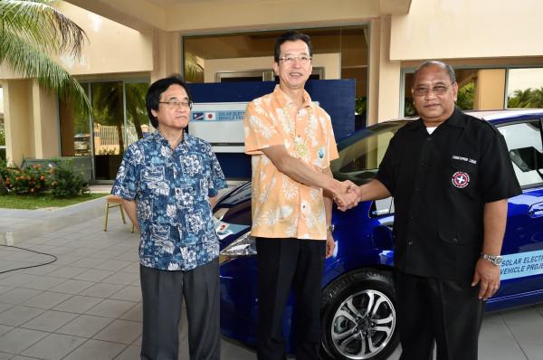 El desembarco del Jazz eléctrico contó con la presencia de las principales autoridades de las Islas Marshall, su embajador japonés y representantes de Honda