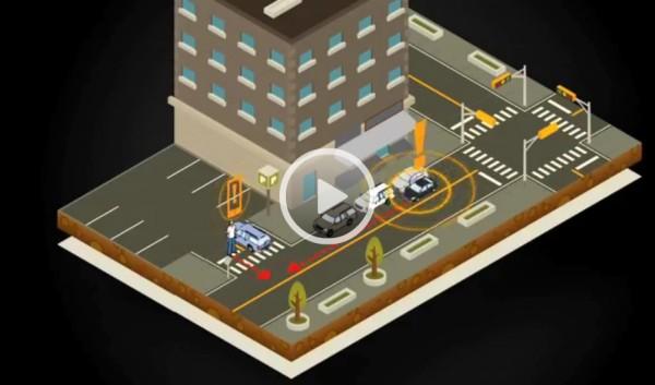 Simulación del funcionamiento del sistema vehicle to pedestrian